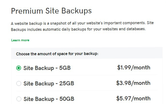 back up in $1 web hosting
